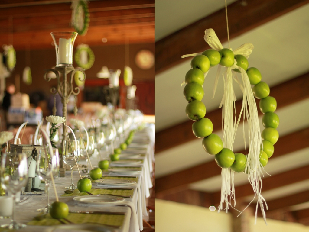 Apple table decorations hanlie green for Apple decoration ideas