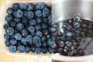 Local grown blueberries from Lorraine Farm