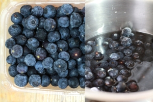 Local grown blueberries from Lorraine Farm