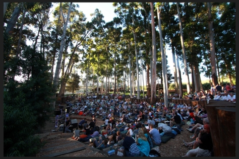The open air amphitheatre...