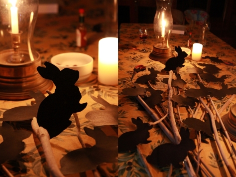 Midnight creative fun by candle light..