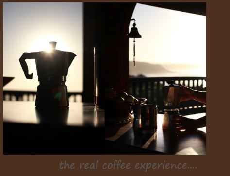 The real coffee experience WITH a view...