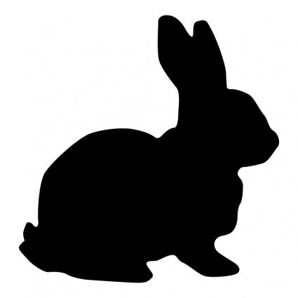 Bunny silouette