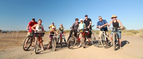 Our group, on route the the Africa Burn site...