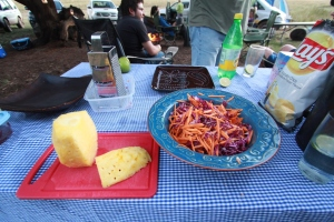 Salad prepping...