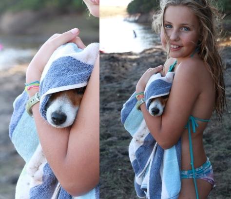 Leila... Abby's cuddle bunny...