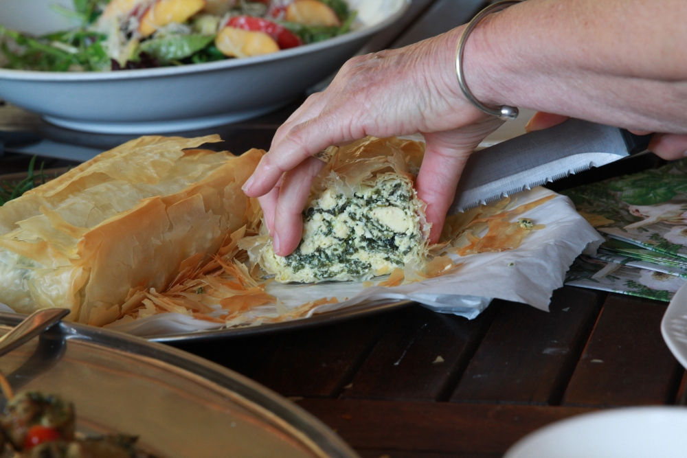 Spinach and ricotta bake at Somerset Gift Farm Getaway... Part 2 of 3 (5/6)
