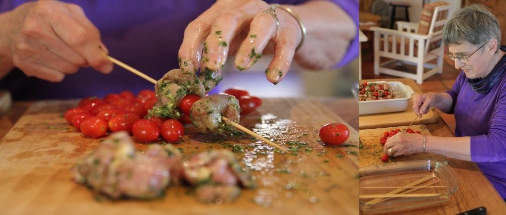 Pesto chicken kebabs at Somerset Gift Farm Getaway..... part 1 of 3 (6/6)