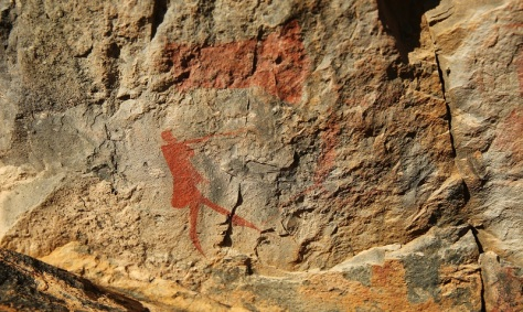 Rock paintings at Rietfontein...